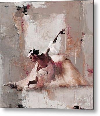 Ballerina Dance On The Floor 02 Metal Print by Gull G