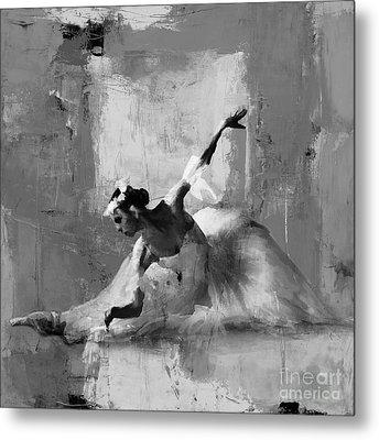 Ballerina Dance On The Floor  Metal Print by Gull G