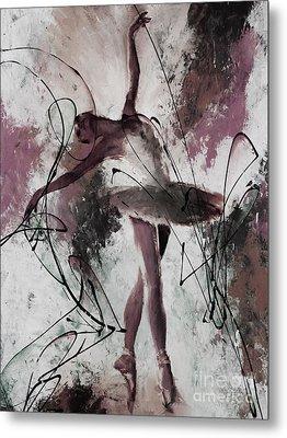 Ballerina Dance Painting 0032 Metal Print by Gull G