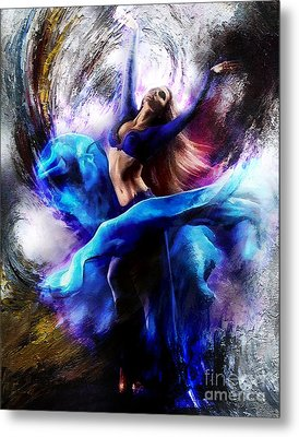 Ballerina Dance009-a Metal Print by Gull G