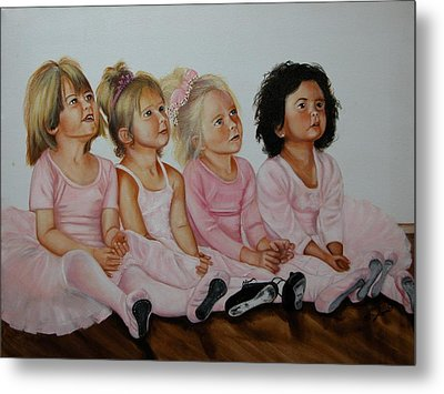 Ballerina Girls Metal Print by Joni McPherson