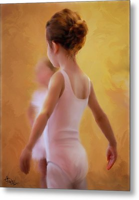 Ballerina In Pink Metal Print by Colleen Taylor