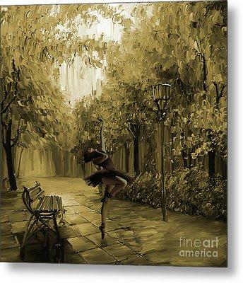 Ballerina In The Park 02 Metal Print