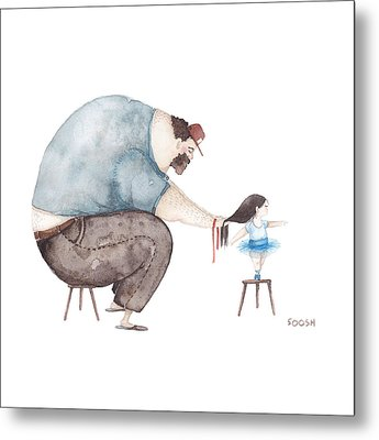 Ballerina Metal Print by Soosh