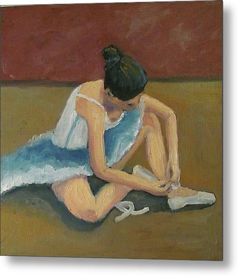 Metal Print featuring the painting Ballerina by Susan  Spohn