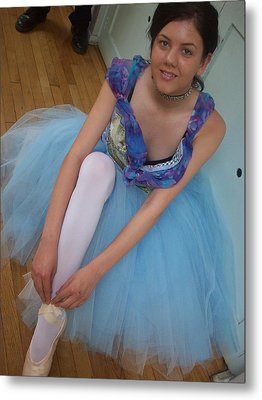 Metal Print featuring the painting Ballerina Suzanne by Judith Desrosiers