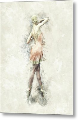 Metal Print featuring the digital art Ballet Dancer by Shanina Conway