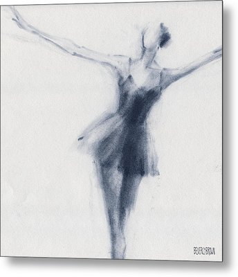 Ballet Sketch Dying Swan Metal Print by Beverly Brown