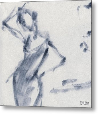 Ballet Sketch Hand On Head Metal Print
