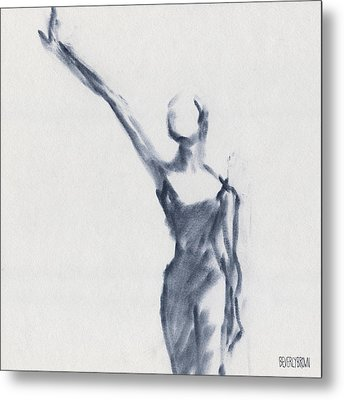 Ballet Sketch One Arm Extended Metal Print