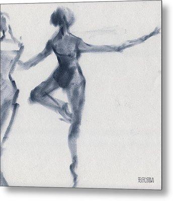 Ballet Sketch Passe En Pointe Metal Print by Beverly Brown