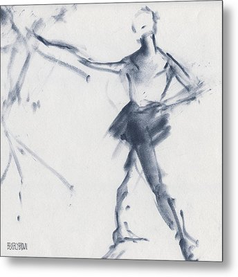 Ballet Sketch Tendu Front Metal Print by Beverly Brown
