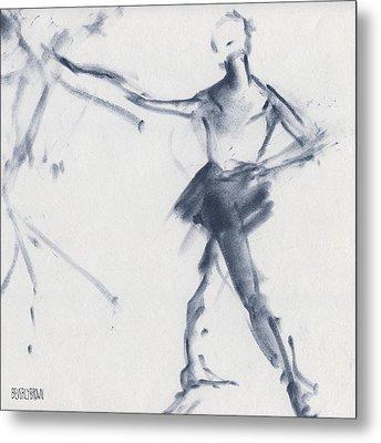 Ballet Sketch Tendu Front Metal Print
