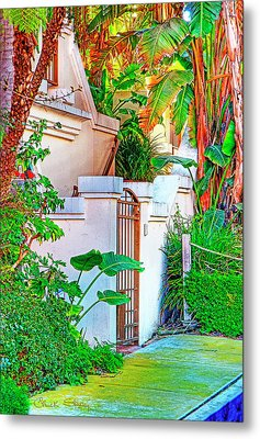 Metal Print featuring the photograph Ballona Lagoon Gate by Chuck Staley