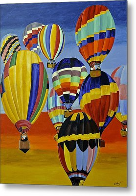 Balloon Expedition Metal Print