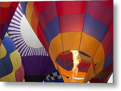 Balloons 11 Metal Print by Rebecca Cozart