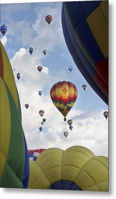 Balloons 17 Metal Print by Rebecca Cozart