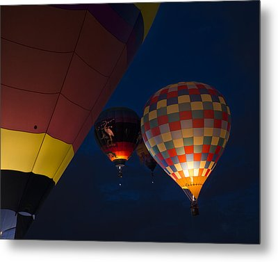 Balloons 6 Metal Print by Rebecca Cozart