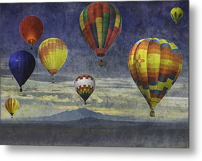 Balloons Over Sister Mountains Metal Print