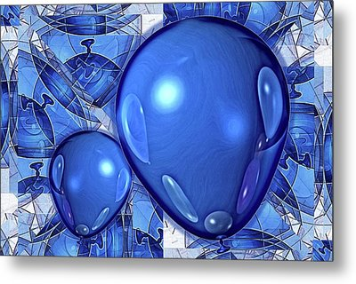 Metal Print featuring the digital art Balloons by Ron Bissett