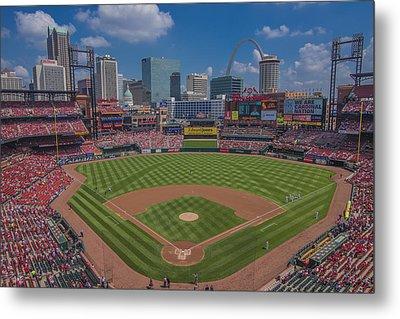 Ballpark Village Cardinal Nation Busch Stadum St. Louis Cardinals April 2015 #2 Metal Print by David Haskett