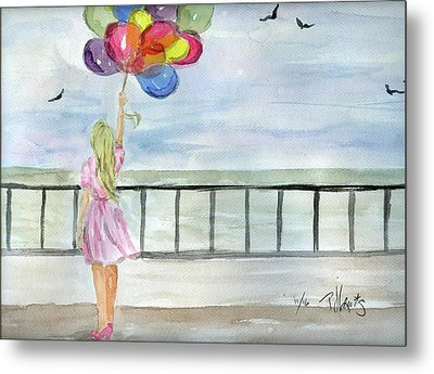 Metal Print featuring the painting Baloons by P J Lewis