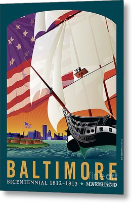 Baltimore - By The Dawns Early Light Metal Print