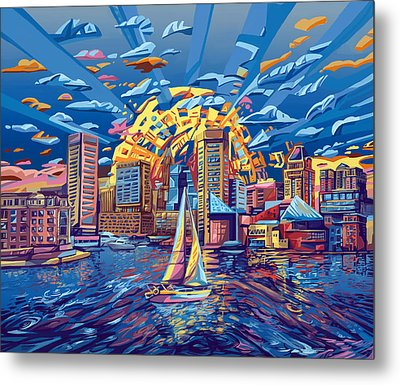 Baltimore City Skyline Metal Print by Bekim Art