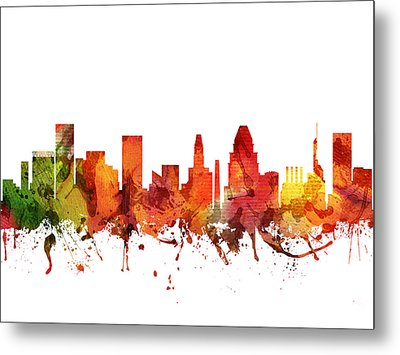 Baltimore Cityscape 04 Metal Print by Aged Pixel