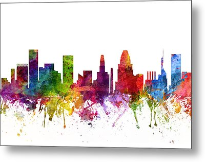 Baltimore Cityscape 06 Metal Print by Aged Pixel