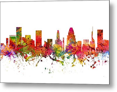 Baltimore Cityscape 08 Metal Print by Aged Pixel