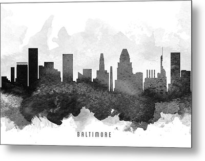 Baltimore Cityscape 11 Metal Print by Aged Pixel