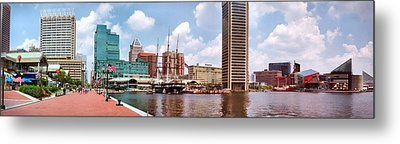 Baltimore Harbor Panorama Metal Print