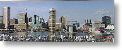 Baltimore Inner Harbor Panorama - Maryland Metal Print by Brendan Reals
