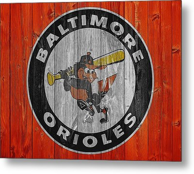 Baltimore Orioles Graphic Barn Door Metal Print