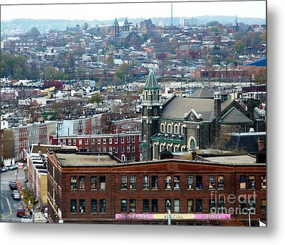 Baltimore Rooftops Metal Print by Carol Groenen