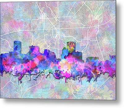 Metal Print featuring the painting Baltimore Skyline Watercolor 6 by Bekim Art