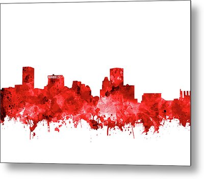 Metal Print featuring the painting Baltimore Skyline Watercolor 7 by Bekim Art