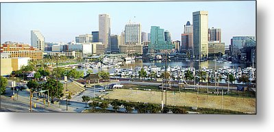 Metal Print featuring the photograph Baltimore's Inner Harbor by Brian Wallace