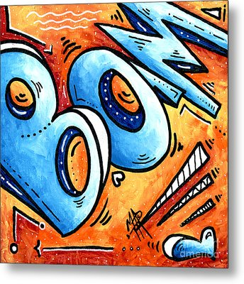 Bam Is A Contemporary Fun Pop Art Painting By Madart Megan Duncanson Metal Print