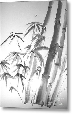 Metal Print featuring the painting Bamboo 2 by Sibby S