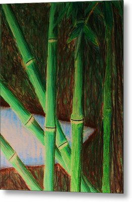 Bamboo Forest Metal Print by Bruce Byrnes