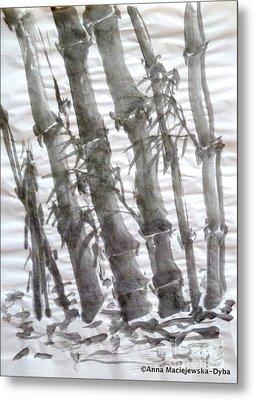 Bamboo Grove 3 Metal Print
