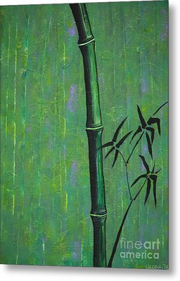 Metal Print featuring the painting Bamboo by Jacqueline Athmann
