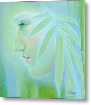 Metal Print featuring the painting Bamboo by Ragen Mendenhall