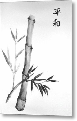 Metal Print featuring the painting Bamboo by Sibby S
