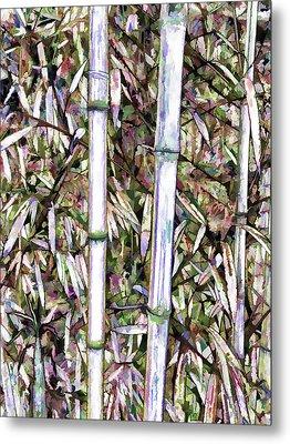 Bamboo Stalks Metal Print by Lanjee Chee