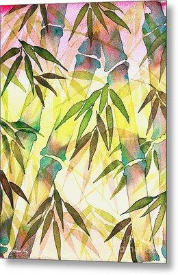 Bamboo Sunrise Metal Print