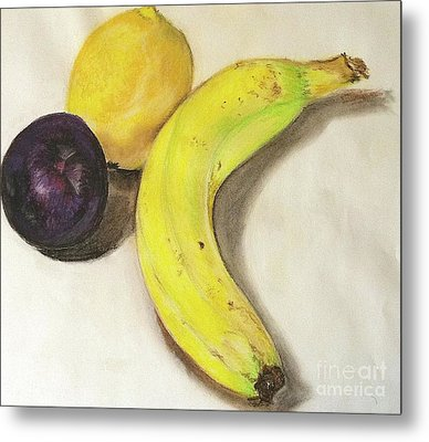 Banana And Company Metal Print by Sheron Petrie