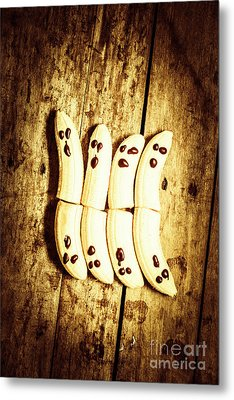 Banana Ghosts Looking To Split At Halloween Party Metal Print